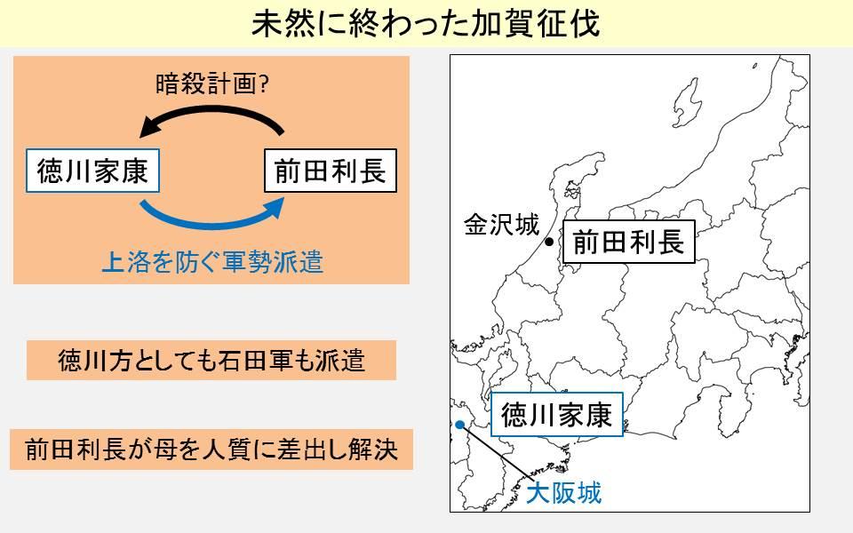 加賀征伐の経緯を示す図