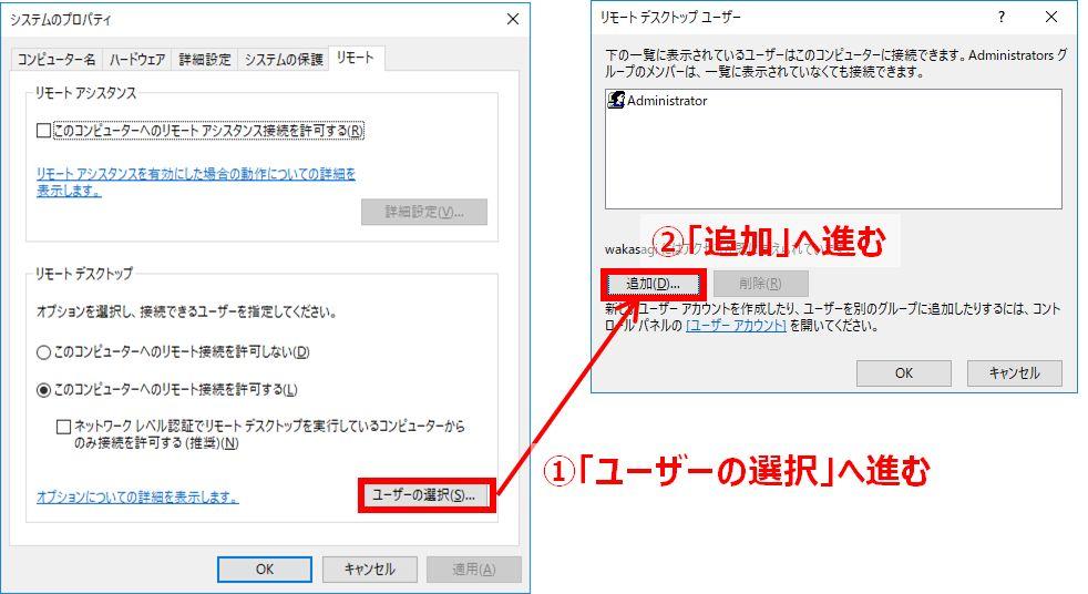 リモートデスクトップユーザー
