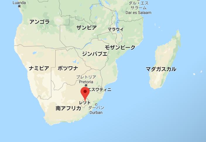 レソトの地図