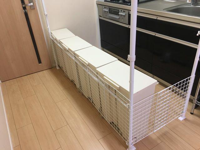 キッチンにベビーゲートを付けられないので手作りした