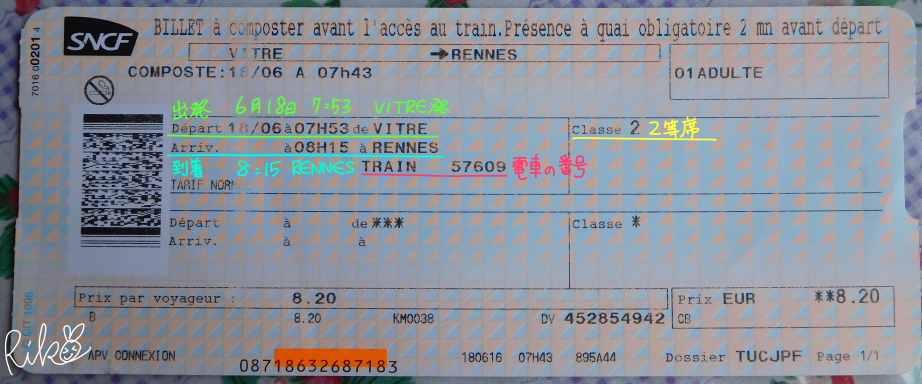 sncf、TERのチケット