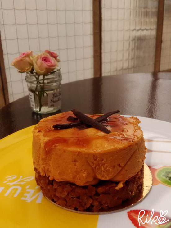 キャラメルムースのケーキ