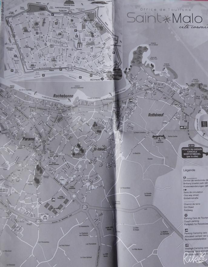 フランス語版サン・マロの地図