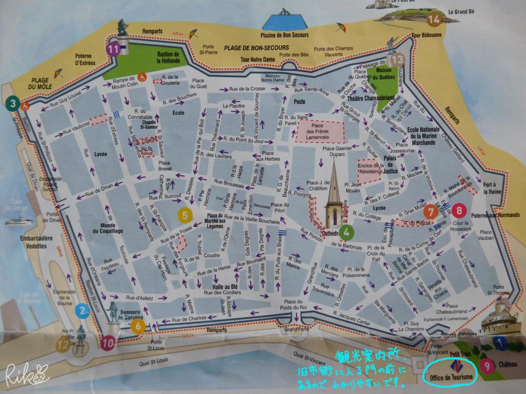 サン・マロ旧市街地図