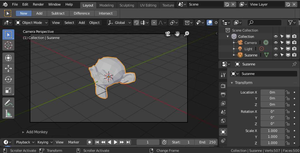【Blender】Blender2.8で輪郭線のみを抽出した画像の作成方法 - ソースに絡まるエスカルゴ