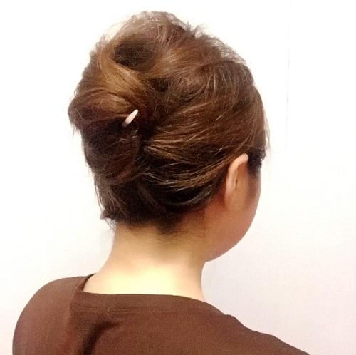 髪の毛にも優しい!オシャレに見える簡単かんざしアレンジ_イメージ4