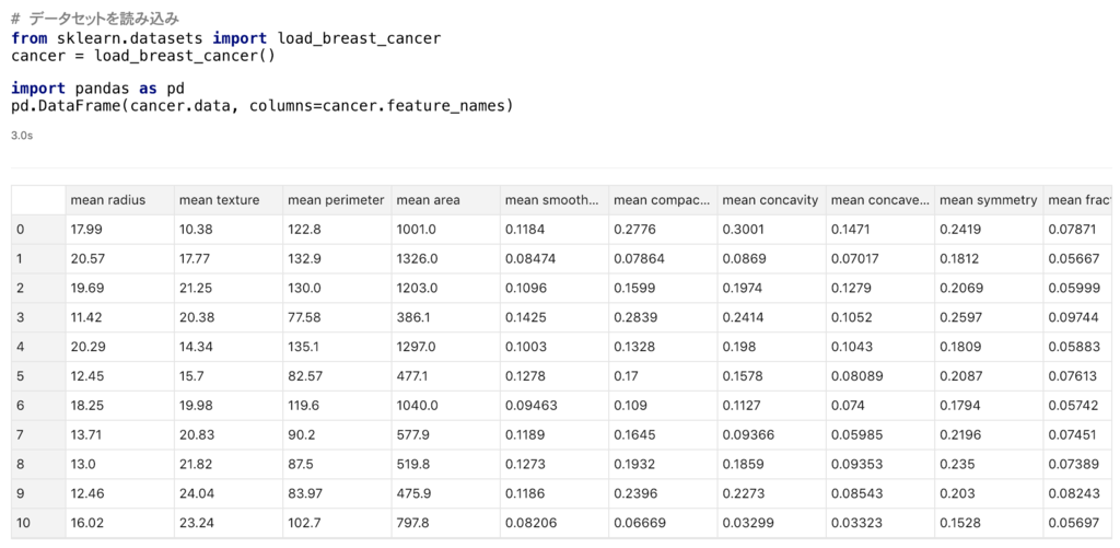 機械 学習 データ セット