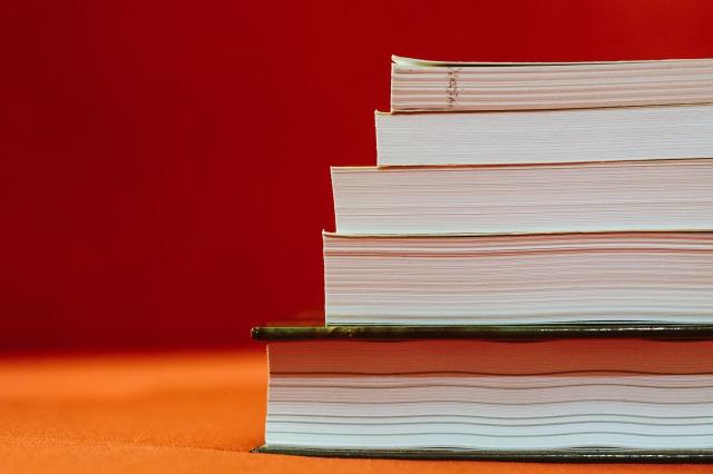 積まれた教科書