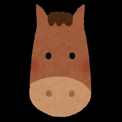 馬の長い顔