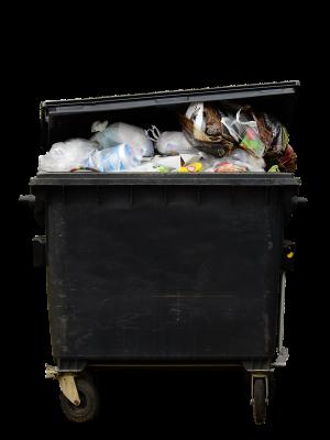 ゴミ捨て用のコンテナ