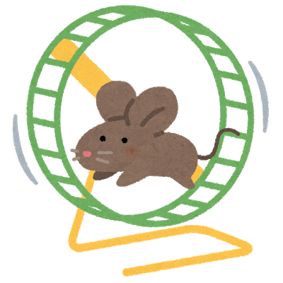 回し車で走るネズミ