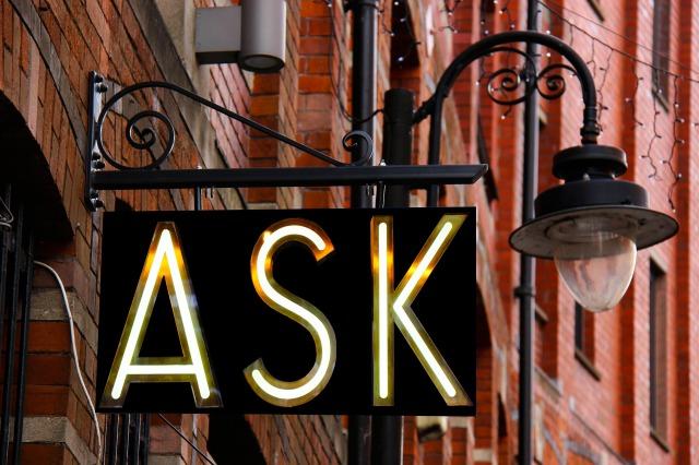 askと書かれている看板