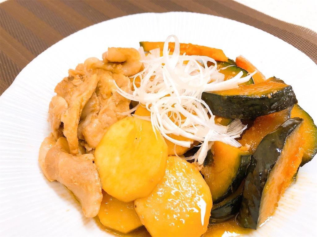 豚肉とかぼちゃ、長芋の照り焼き【豚肉 かぼちゃ 長芋 作り