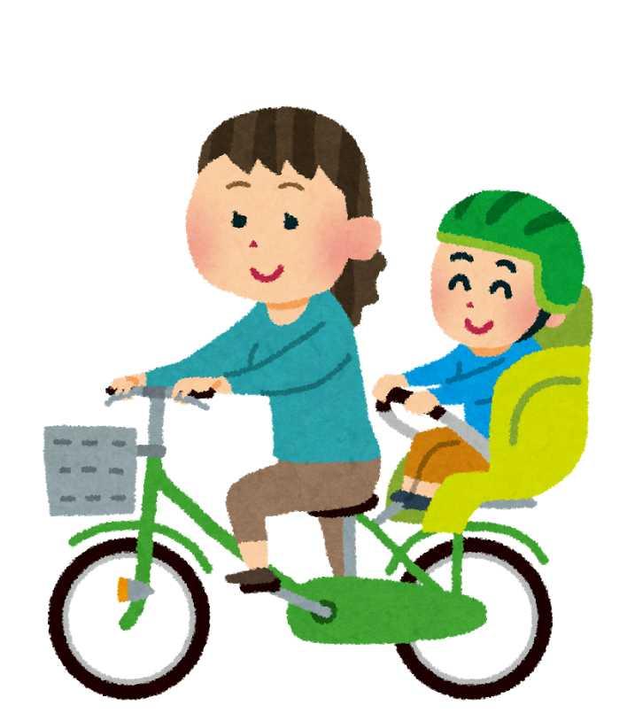 子供乗せ自転車のイラスト