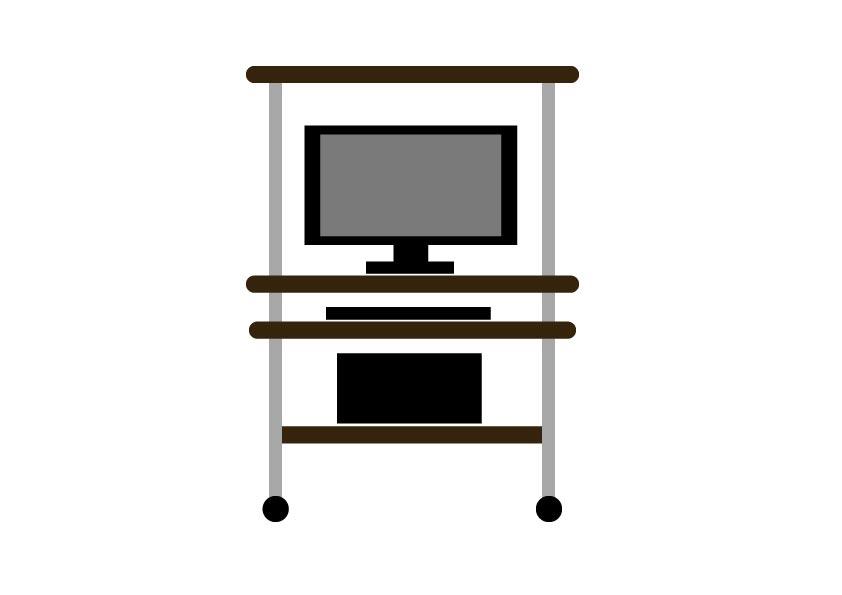 パソコンデスクの画像