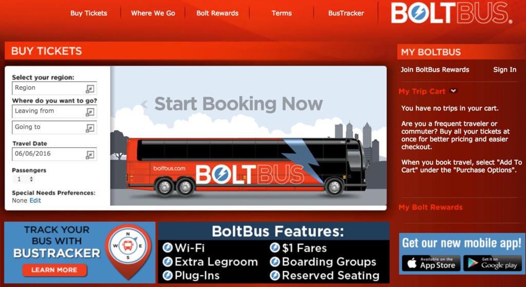 BoltBus(ボルトバス)