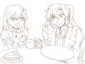 お茶会・線画