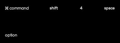 command+shift+4+spaceで反転させたらoption+クリック
