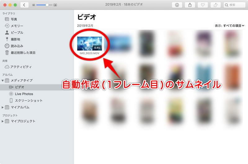 写真アプリ動画一覧の画像