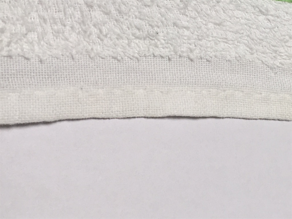 白くなった布巾