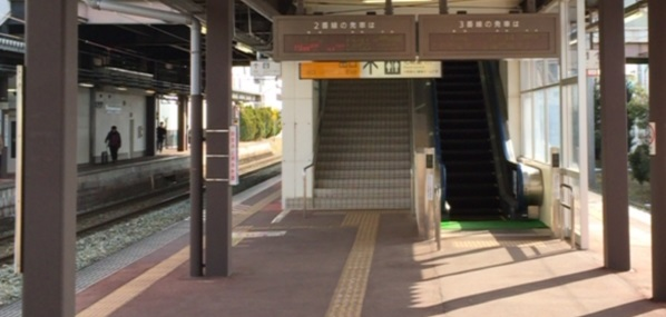 天童駅 ホーム