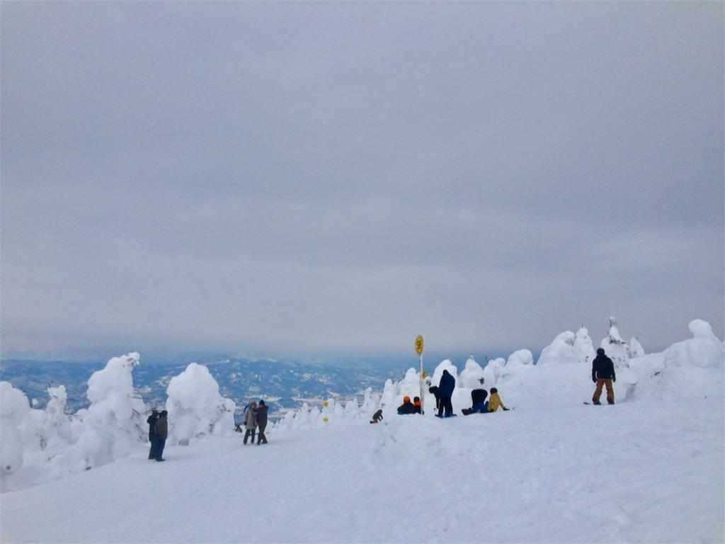 スキーヤー・スノーボーダーは山頂からそのまま🏂