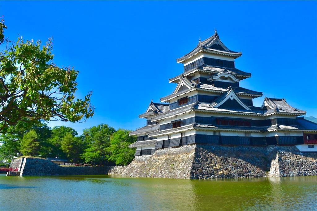 松本城をいろんな角度から見てみる。