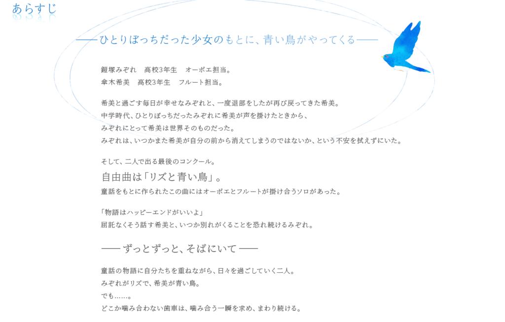 リズと青い鳥【あらすじ】
