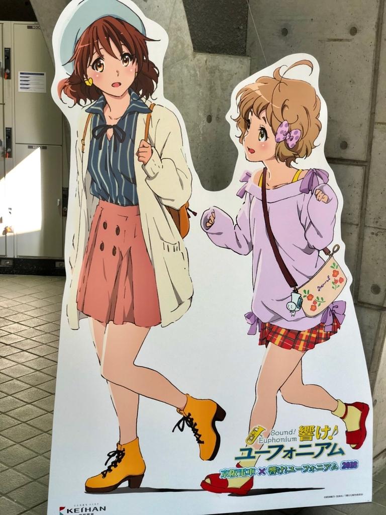 京阪電車×響け!ユーフォニアム2018【等身大パネル撮影】