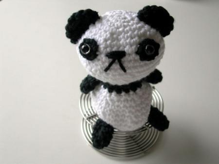 Le Panda -Chrisさんのあみぐるみ本より