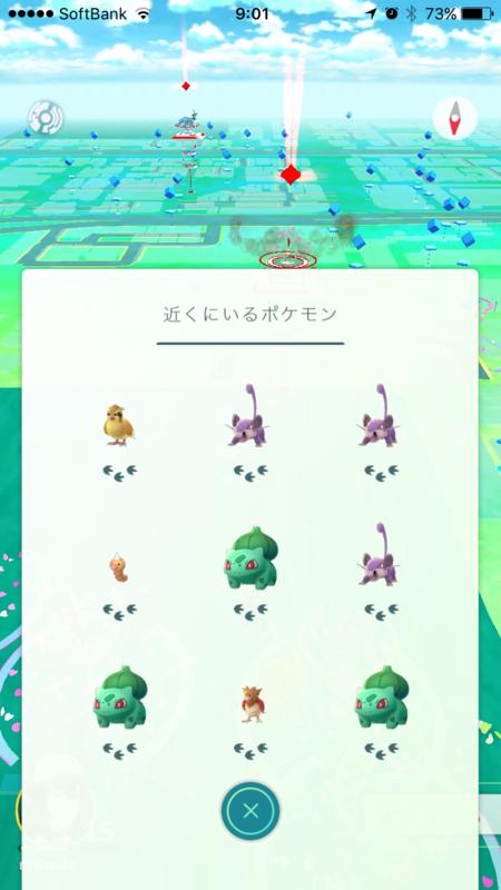 ポケモンGO足跡のバグ