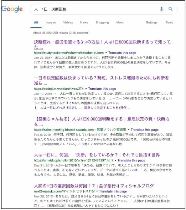 人1日決断回数検索結果