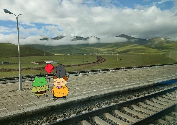 列車とゆるキャラ