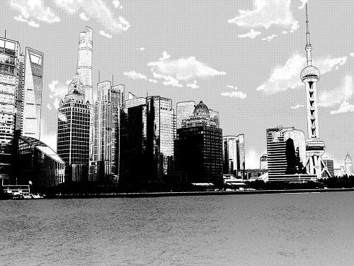 上海・漫画加工風