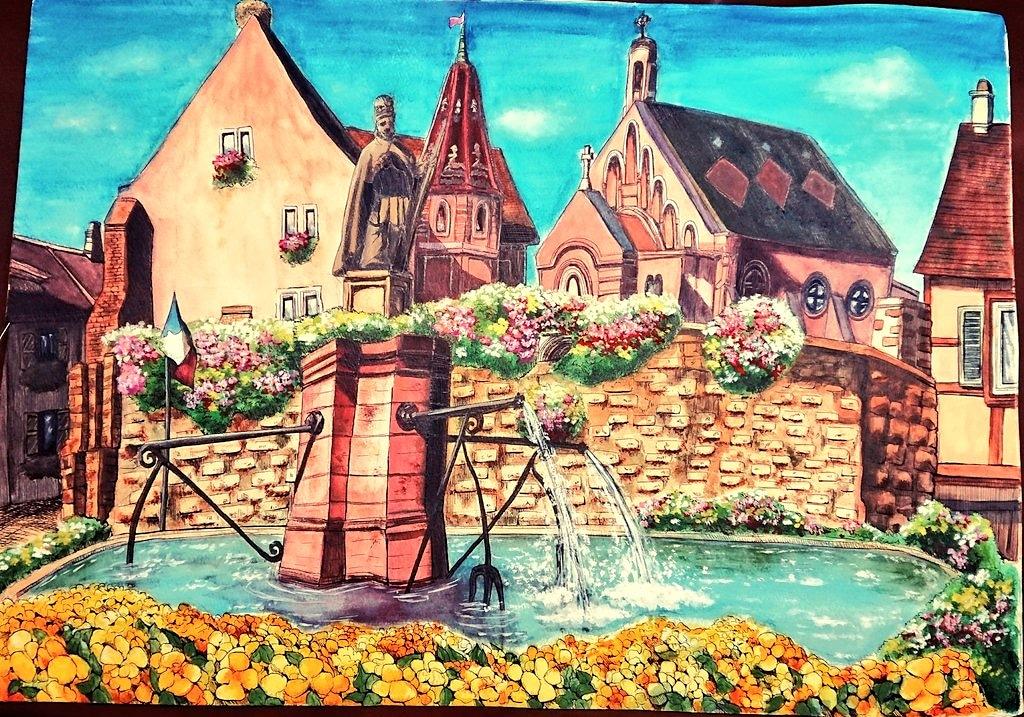アルザス・水のある風景