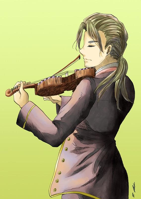 ハルダンゲルヴァイオリン着色