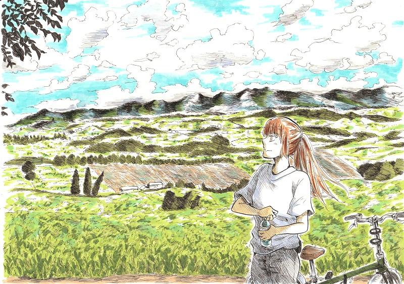 草原のある風景