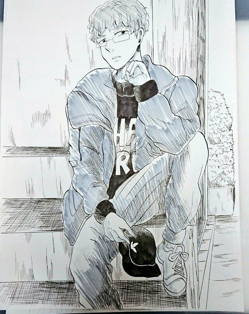 カジュアル眼鏡男子