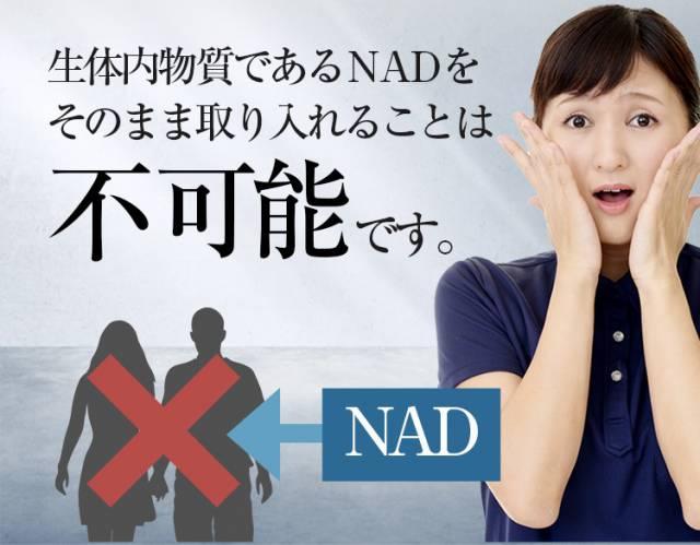 NADをそのまま取り入れることは不可能のイメージ図
