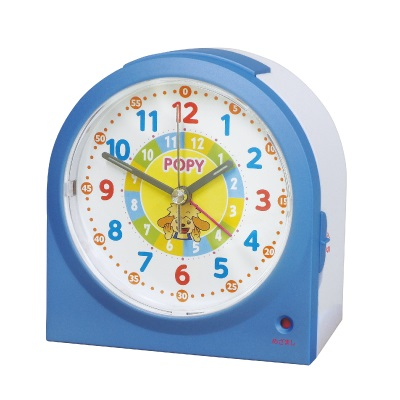 小学ポピー1年生入会プレゼントのポピーおべんきょう目覚まし時計