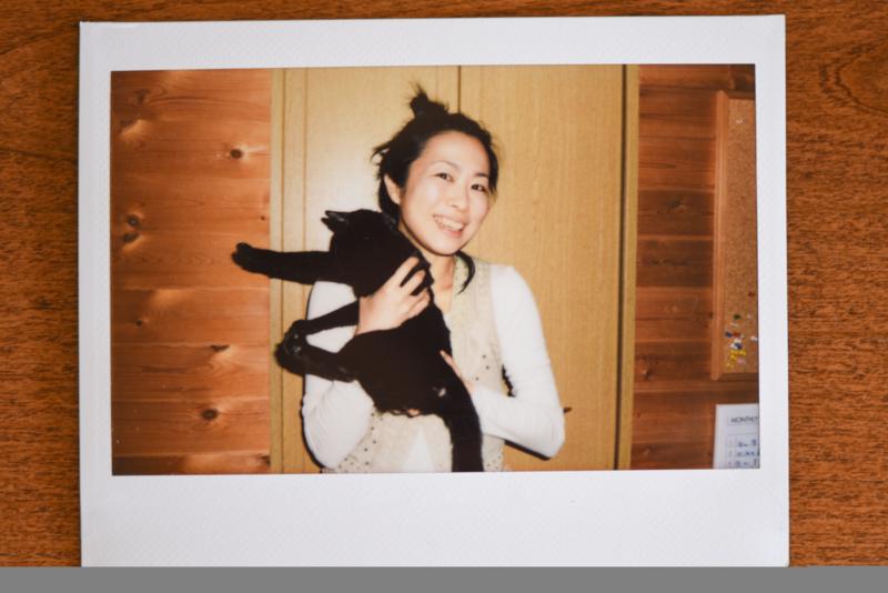 黒猫こんぶと記念撮影