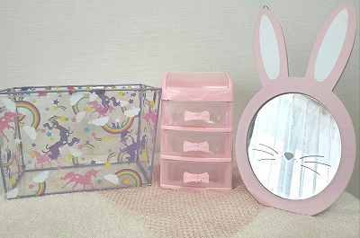 ツールボックスとウサギのミラー