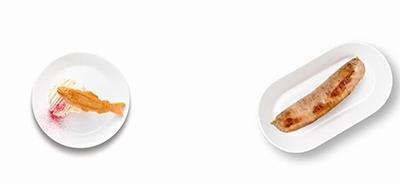 チーズモンブランとトリュフソーセージ