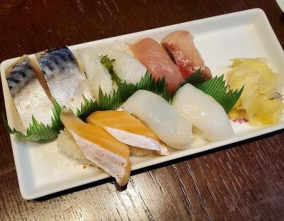 500円分のお寿司