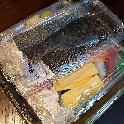 にぎり寿司セットを注文