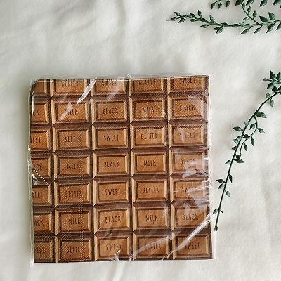 チョコレートの紙ナプキン
