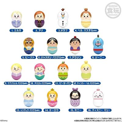 16種類のキャラクター