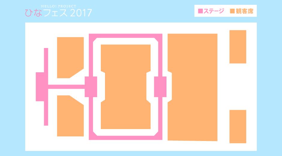 ひなフェス2017 ステージ図