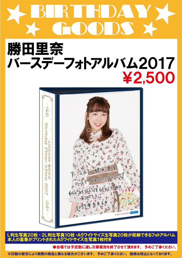 アンジュルム コンサートツアー 2017春 ~変わるもの 変わらないもの~勝田里奈