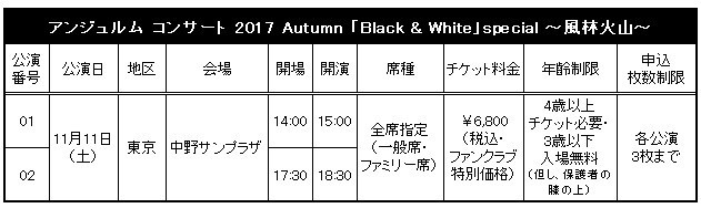 アンジュルム ライブツアー 2017秋「Black & White~風林火山~」